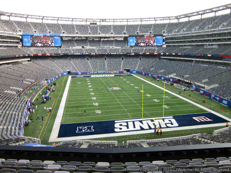 Seat view from section 203A at Metlife Stadium, home of the New York Jets