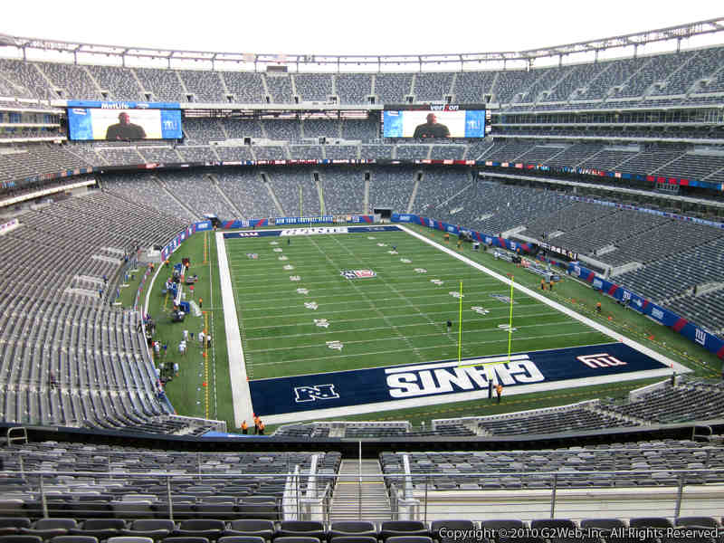 Seat view from section 203B at Metlife Stadium, home of the New York Giants