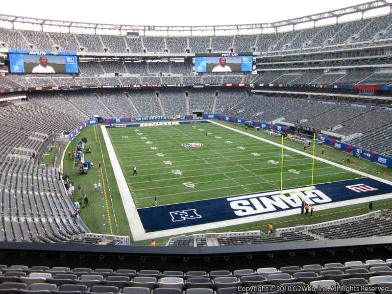 Seat view from section 204 at Metlife Stadium, home of the New York Giants