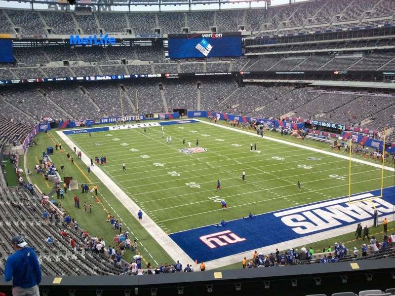 Seat view from section 205 at Metlife Stadium, home of the New York Jets