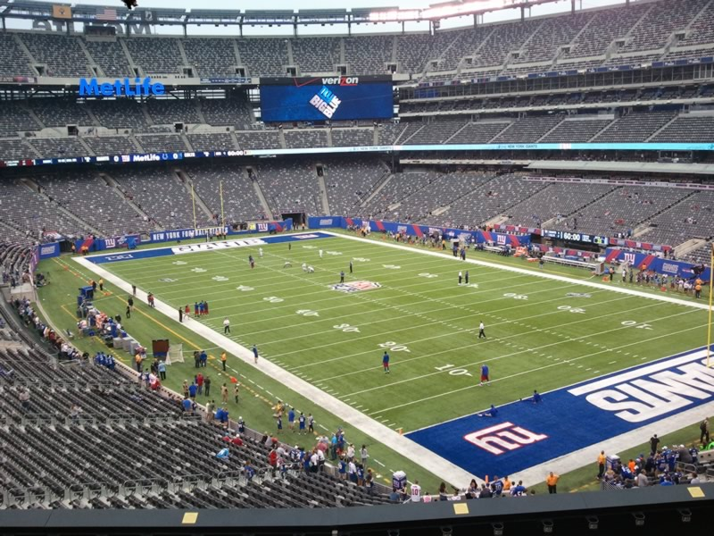 Seat view from section 206 at Metlife Stadium, home of the New York Giants