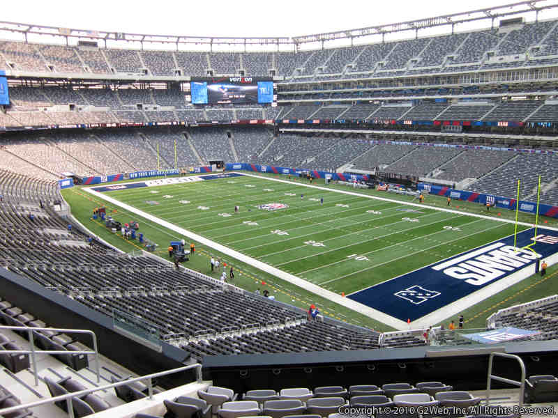 Seat view from section 207A at Metlife Stadium, home of the New York Giants