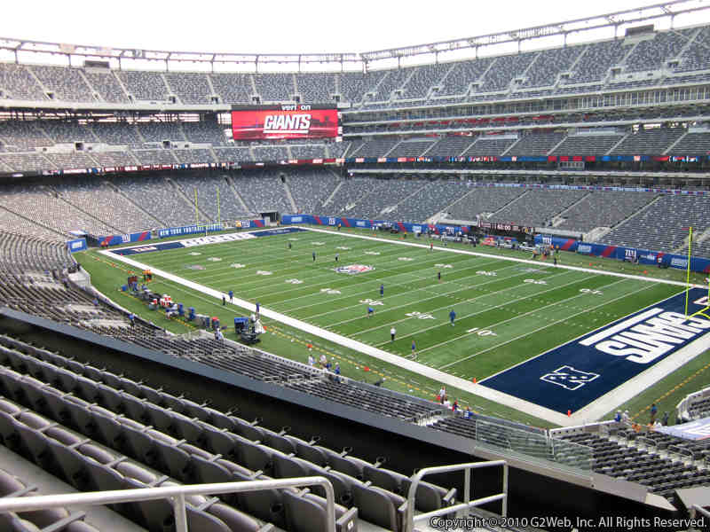 Seat view from section 207C at Metlife Stadium, home of the New York Jets