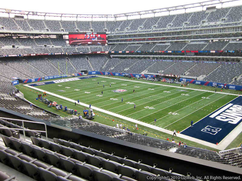 Seat view from section 208 at Metlife Stadium, home of the New York Giants