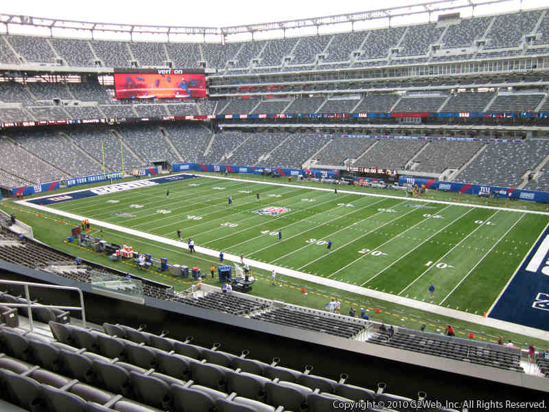 View from Section 209 at Metlife Stadium