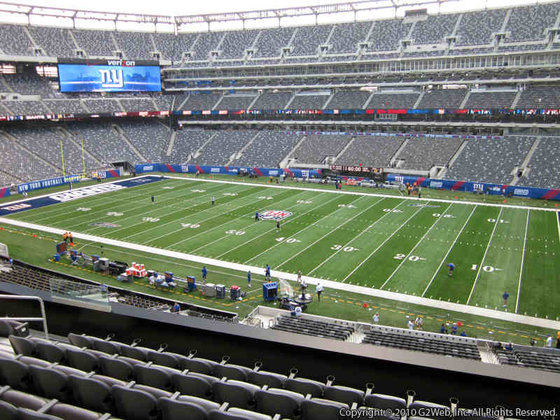 Seat view from section 210 at Metlife Stadium, home of the New York Giants