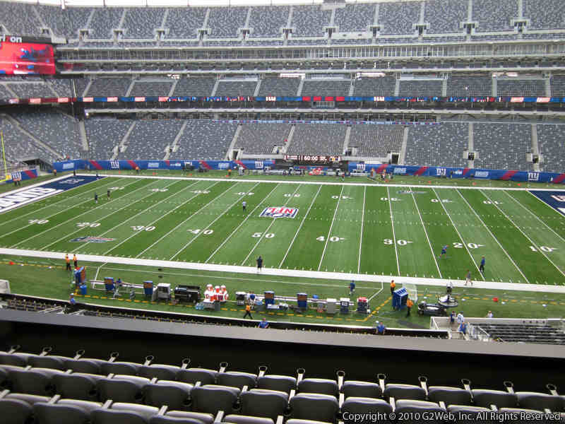 Seat view from section 212 at Metlife Stadium, home of the New York Jets