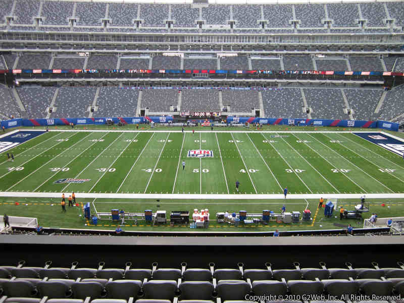 Seat view from section 213 at Metlife Stadium, home of the New York Giants