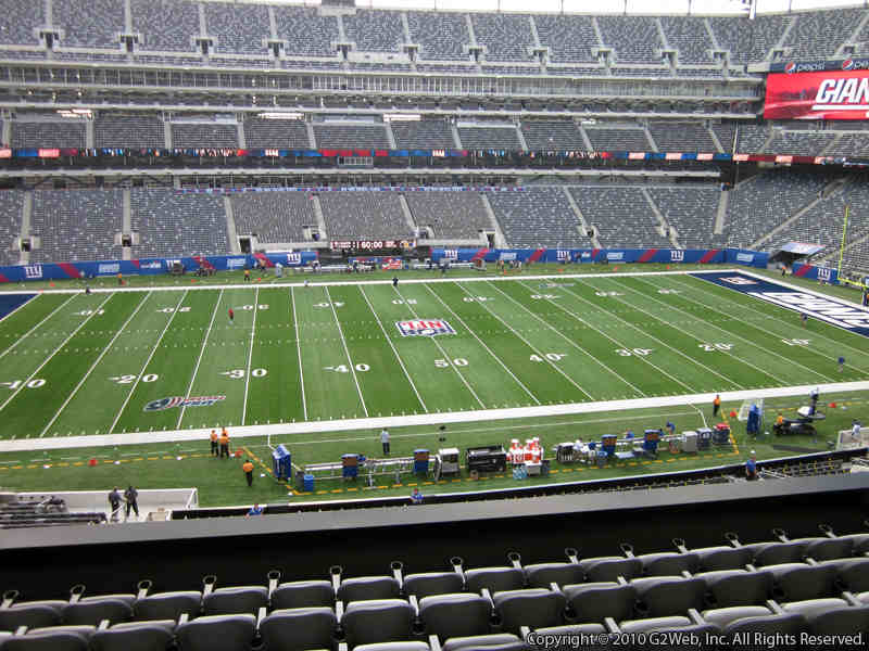 Seat view from section 215 at Metlife Stadium, home of the New York Jets