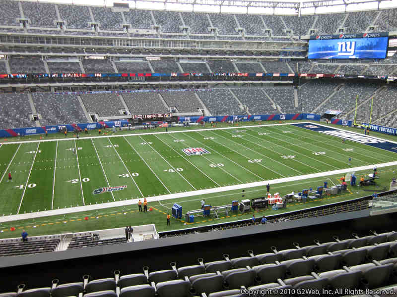 Seat view from section 216 at Metlife Stadium, home of the New York Giants