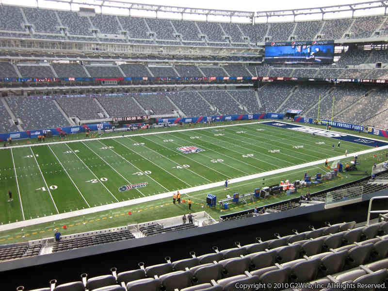 Seat view from section 217 at Metlife Stadium, home of the New York Jets