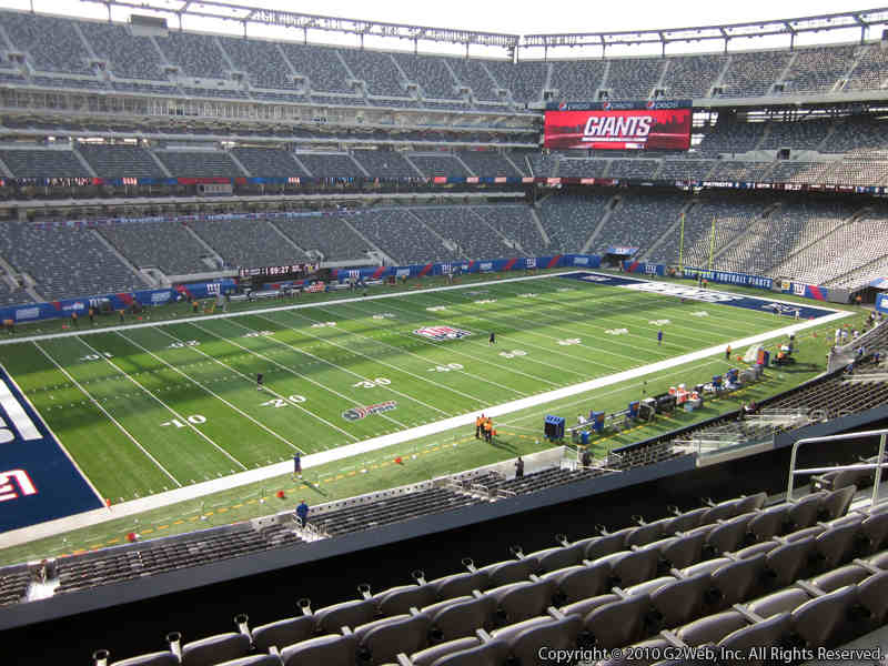 Seat view from section 218 at Metlife Stadium, home of the New York Giants