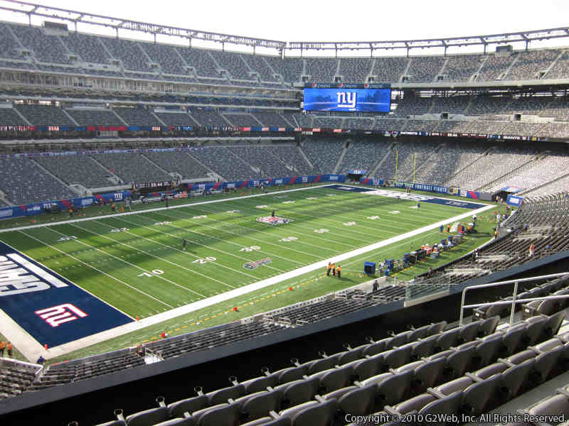Seat view from section 219 at Metlife Stadium, home of the New York Jets