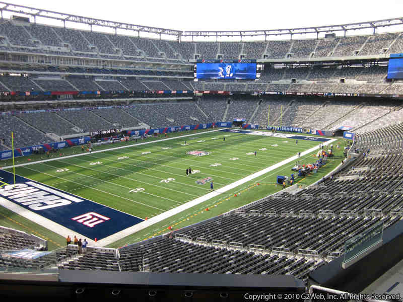 Seat view from section 220A at Metlife Stadium, home of the New York Giants