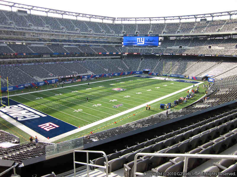 Seat view from section 220C at Metlife Stadium, home of the New York Giants