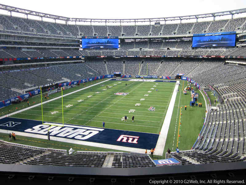 Seat view from section 223 at Metlife Stadium, home of the New York Jets