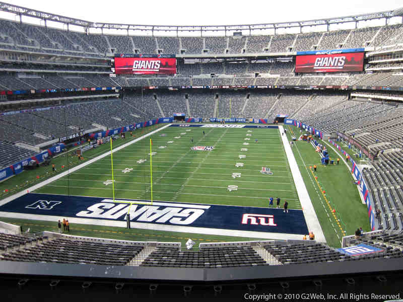 Seat view from section 224A at Metlife Stadium, home of the New York Giants