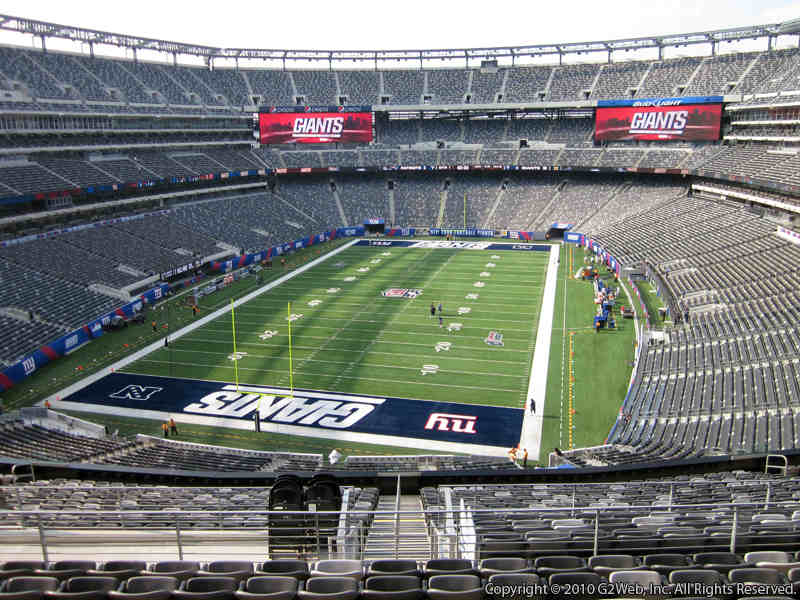 Seat view from section 224B at Metlife Stadium, home of the New York Giants