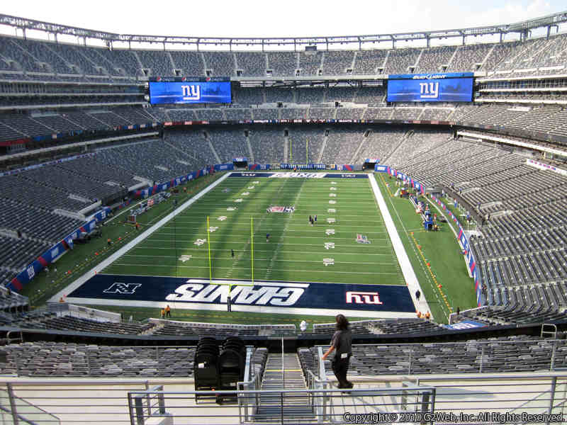 Seat view from section 225B at Metlife Stadium, home of the New York Giants