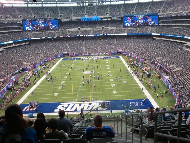 Seat view from section 226 at Metlife Stadium, home of the New York Jets