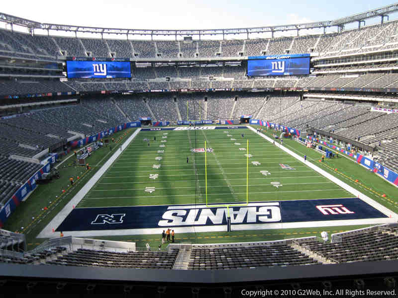Seat view from section 227 at Metlife Stadium, home of the New York Giants