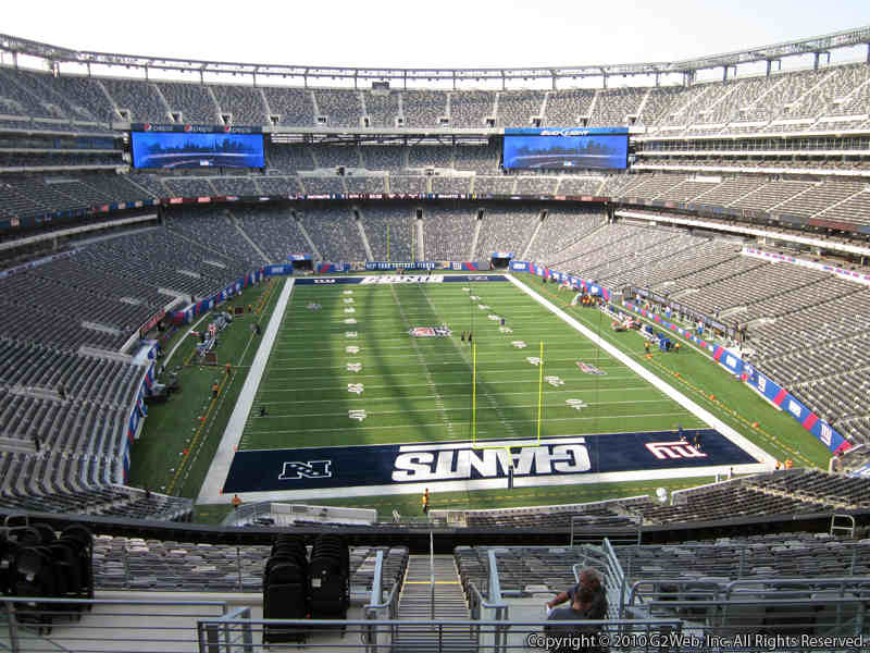 Seat view from section 227B at Metlife Stadium, home of the New York Jets