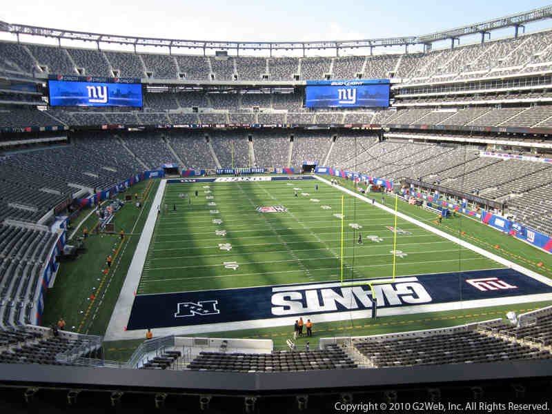 Seat view from section 228A at Metlife Stadium, home of the New York Giants