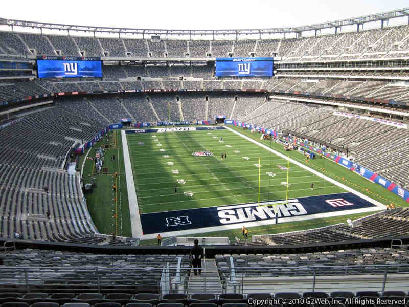 Seat view from section 228B at Metlife Stadium, home of the New York Giants
