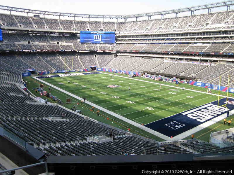 Seat view from section 232A at Metlife Stadium, home of the New York Jets