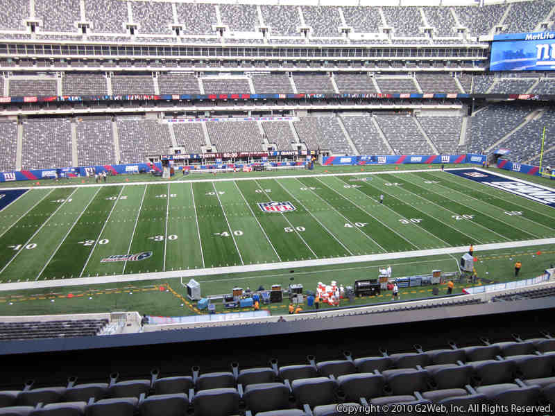 Seat view from section 240 at Metlife Stadium, home of the New York Giants