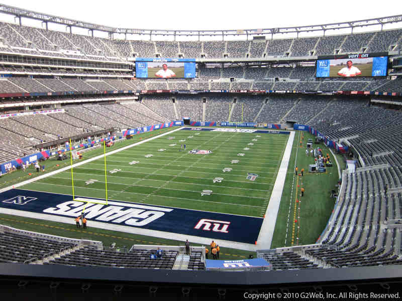 Seat view from section 248 at Metlife Stadium, home of the New York Jets