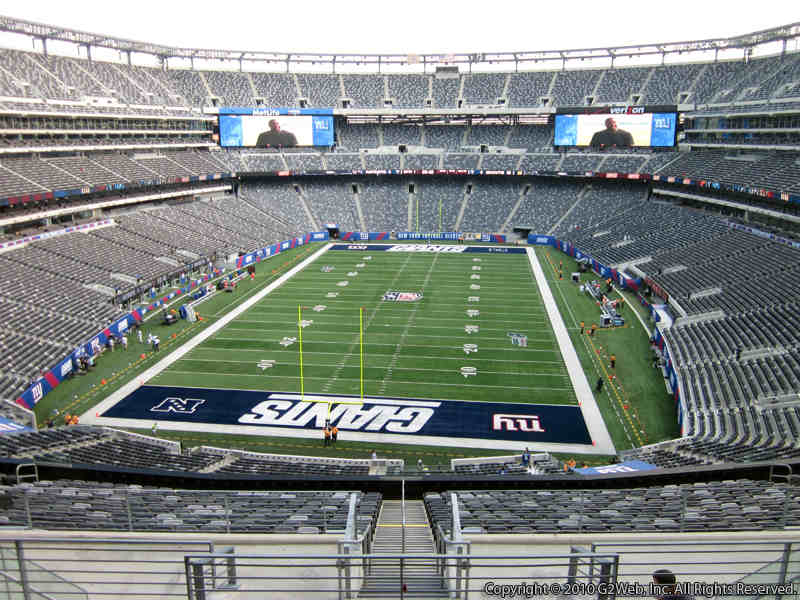 Seat view from section 250B at Metlife Stadium, home of the New York Jets