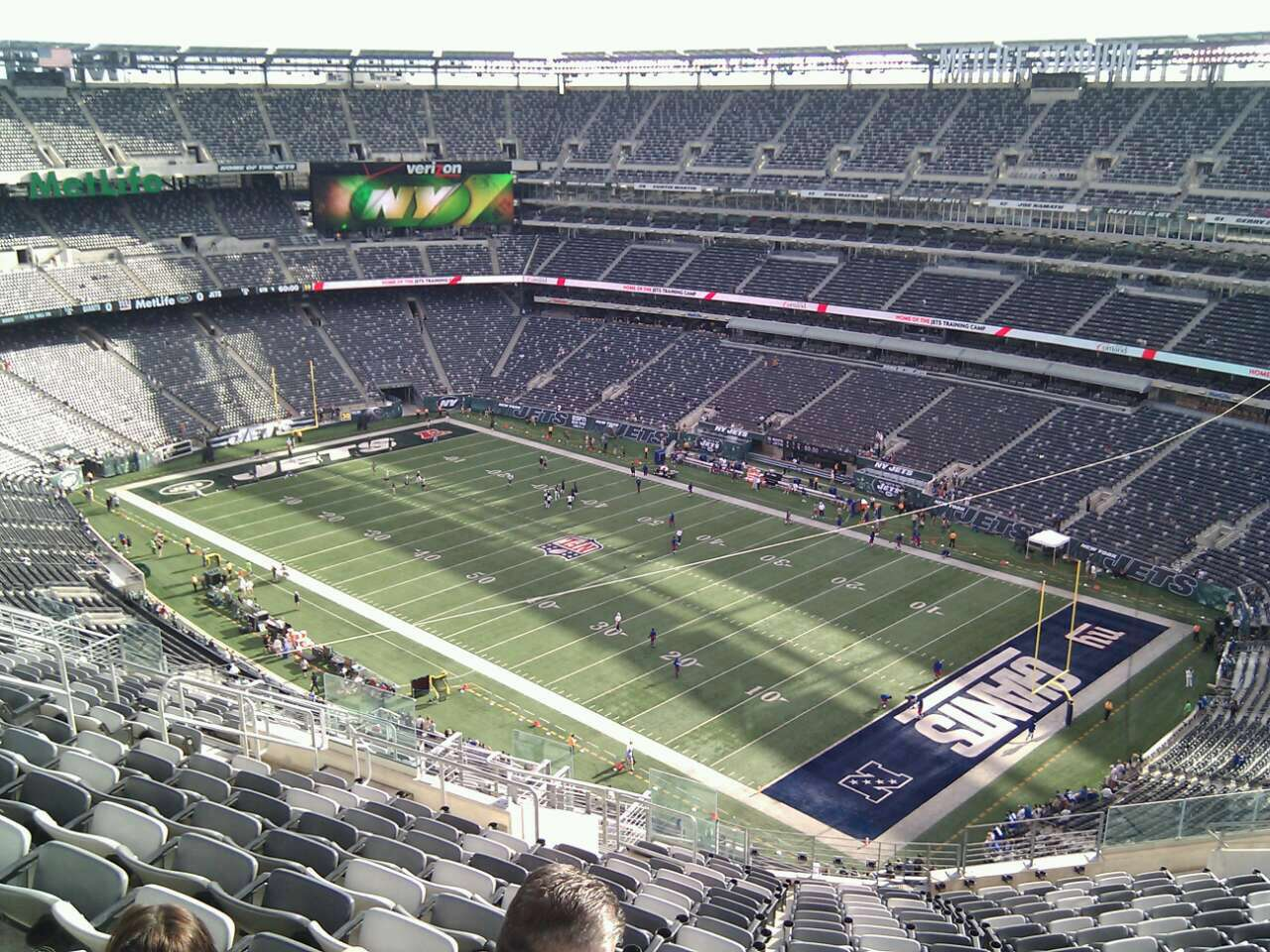 Seat view from section 307 at Metlife Stadium, home of the New York Jets