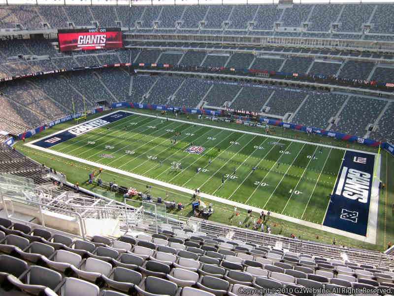 Seat view from section 310 at Metlife Stadium, home of the New York Giants