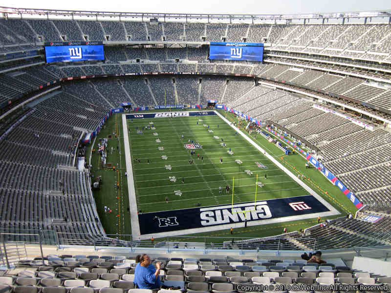 Seat view from section 328 at Metlife Stadium, home of the New York Jets