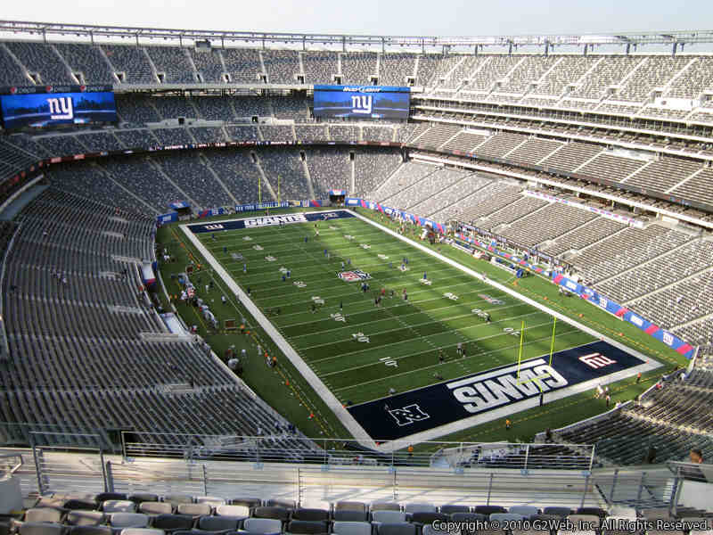 Seat view from section 330 at Metlife Stadium, home of the New York Giants