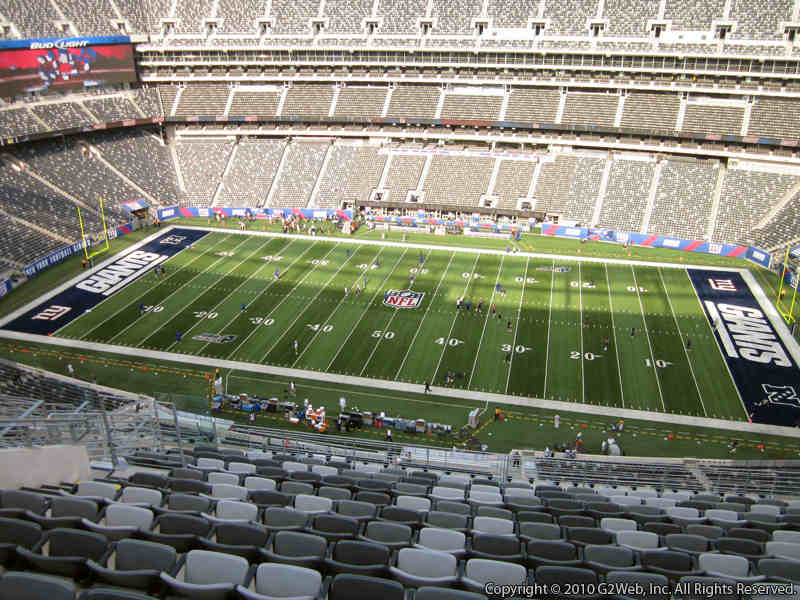 Seat view from section 337 at Metlife Stadium, home of the New York Jets
