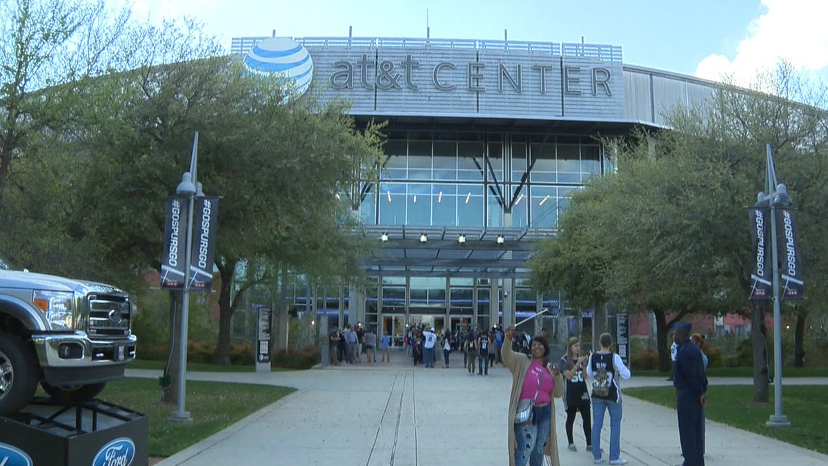 The AT&T Center, Home of the San Antonio Spurs