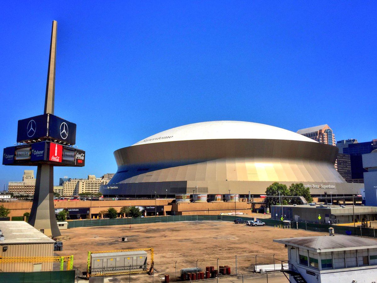 The Mercedes-Benz Superdome, Home of the New Orleans Saints