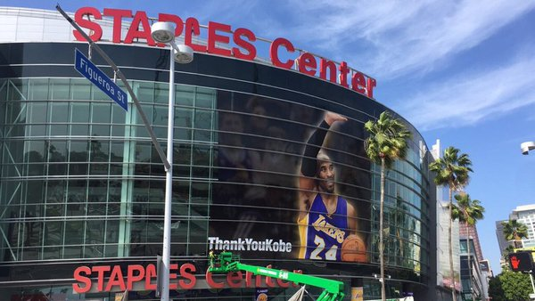 The Staples Center, Home of the Los Angeles Lakers and Clippers