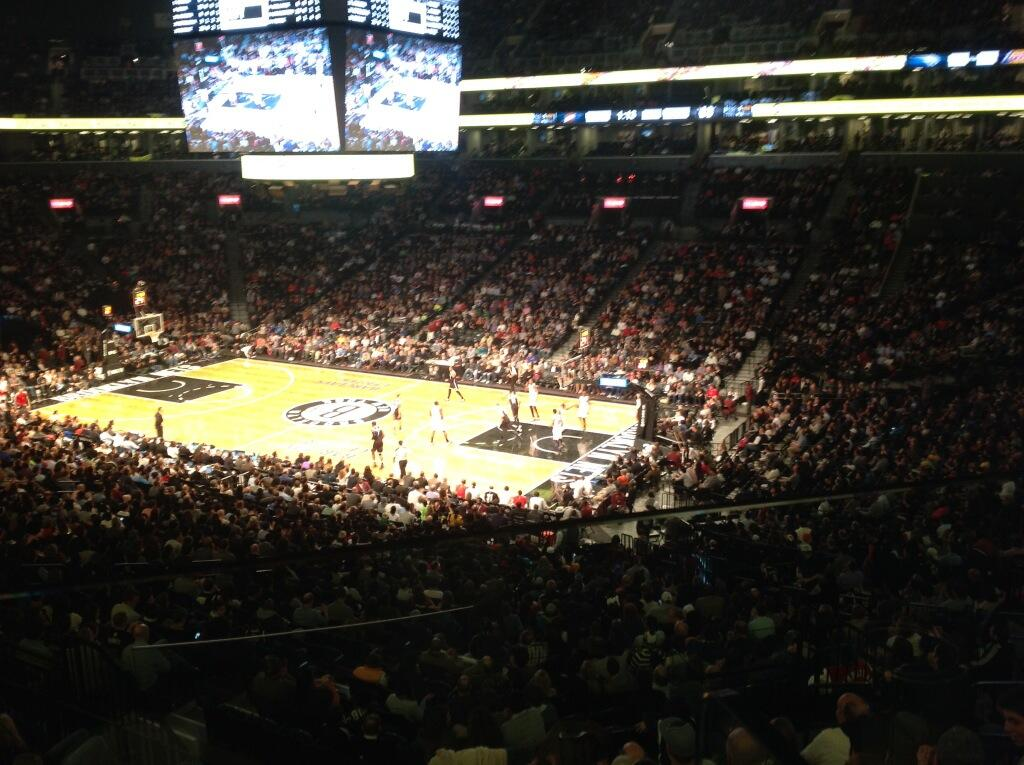 Seat view from Section 105 at the Barclays Center, home of the Brooklyn Nets