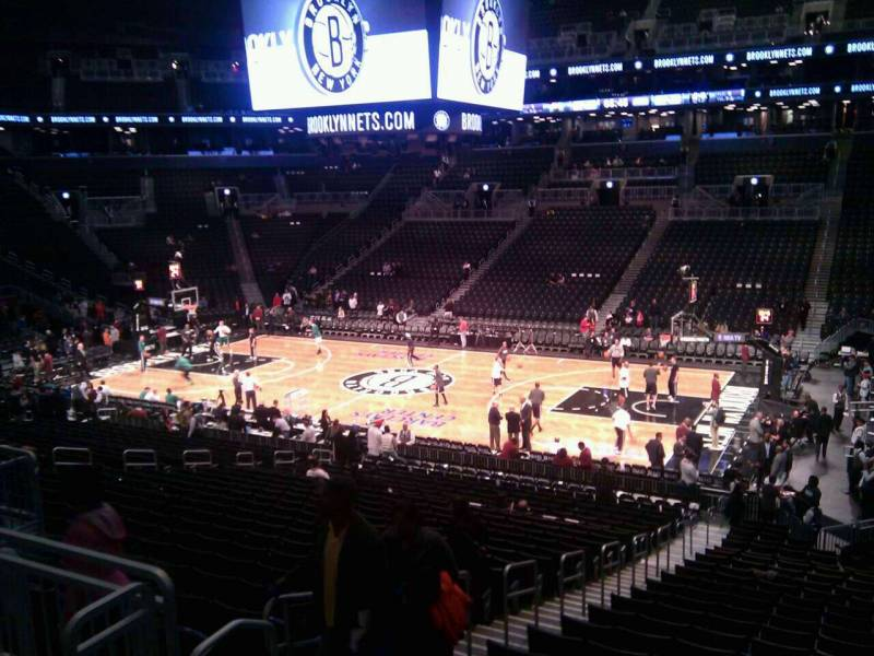 Seat view from Section 106 at the Barclays Center, home of the Brooklyn Nets