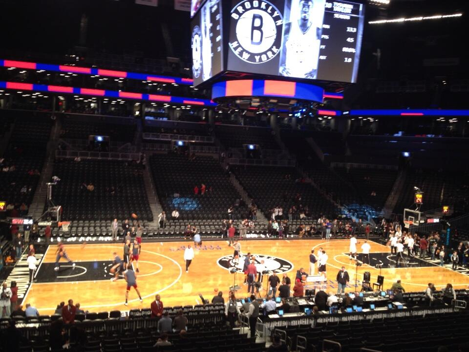 Seat view from Section 109 at the Barclays Center, home of the Brooklyn Nets