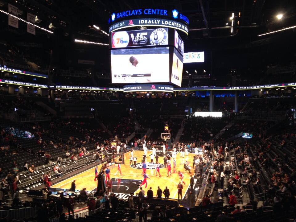 Seat view from Section 115 at the Barclays Center, home of the Brooklyn Nets