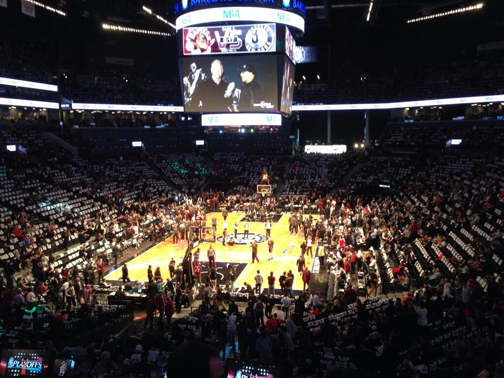 View from Section 115 at Barclays Center