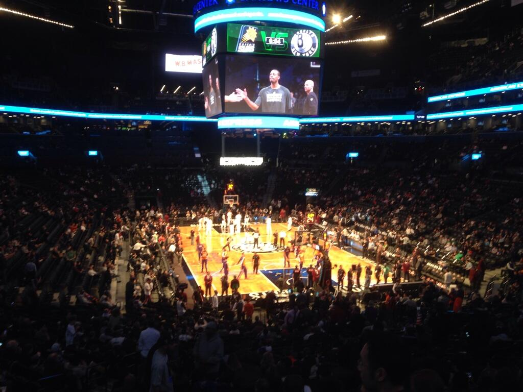 Seat view from Section 117 at the Barclays Center, home of the Brooklyn Nets