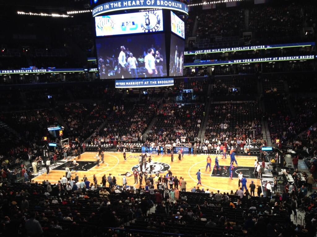 Seat view from Section 123 at the Barclays Center, home of the Brooklyn Nets