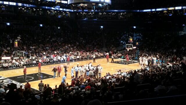 Seat view from Section 12 at the Barclays Center, home of the Brooklyn Nets