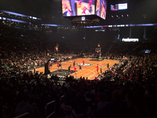 Seat view from Section 13 at the Barclays Center, home of the Brooklyn Nets