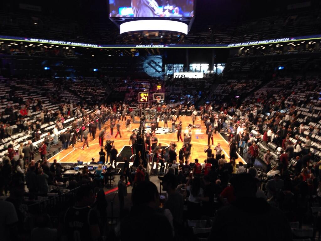 Seat view from Section 16 at the Barclays Center, home of the Brooklyn Nets